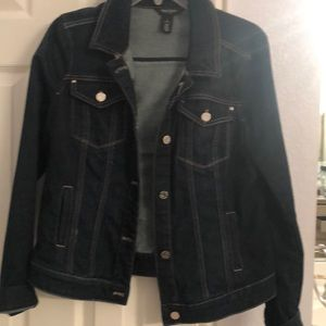 WHBM dark wash denim jacket